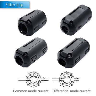 New Clip On Ferrite Beads Split Core Emi Rfi Black 4-5mm 5-7mm 8-9mm 11-13mm Us