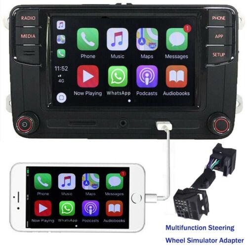 Car Stereo Radio RCD330+ SWC Adapter CarPlay MirroLink BT USB For VW GOLF PASSAT