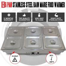 p 6 Pan Stainless Steel Bain Marie Food Warmer 6 GN Tray With Lid Wolli Creek Rockdale Area Preview