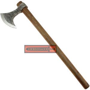 Viking Age Odin's Bearded Ragnar Axe of Ragnarok High Carbon Steel Blade Head