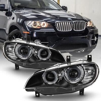 08-14 BMW X6 E71 HID/Xenon w/AFS Model Halo Projector Headlight Lamp Left+Right