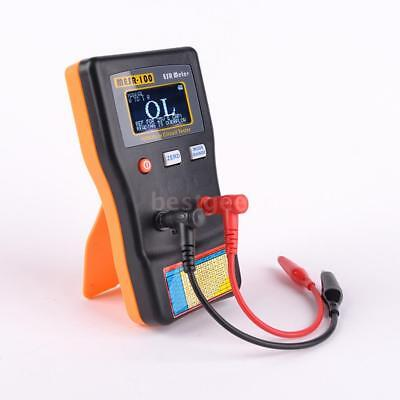 Mesr-100 Esr Lcd Capacitance Ohm Meter Capacitor Circuit Tester With Clips L0u9