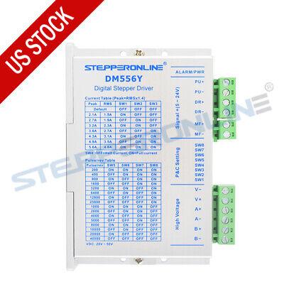 Digital Stepper Driver 1.7-5.6a Dc20v50v For Nema 23 24 Stepper Motor Dm556y