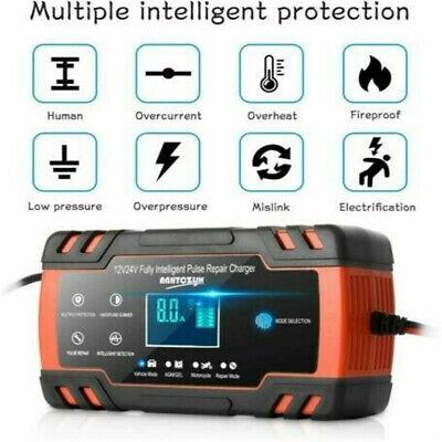 Intelligentes Batterieladegerät 12/24V 8A 150Ah Auto Batterie Batterielader KFZ