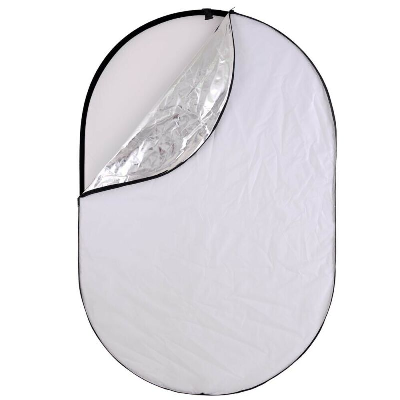 "5in1 110x150cm 40x60"" Photography Oval Light Reflector Collapsible Photo Studio"
