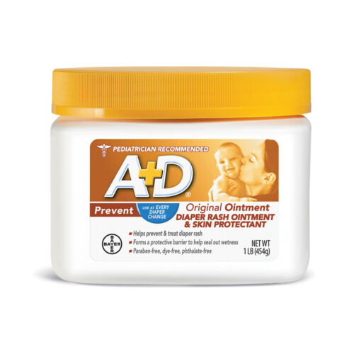 A+D Original Diaper Rash Ointment, Skin Protectant Ointment 16 Oz, free shipping
