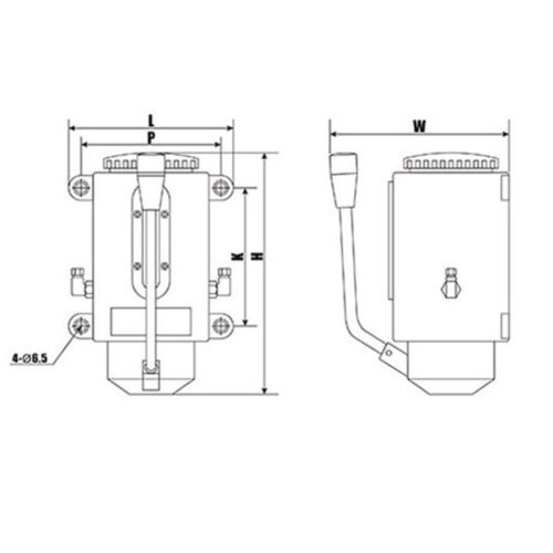Y-8 500cc Machine Hand Pump φ6 Diameter Double Ports for Lubrication System