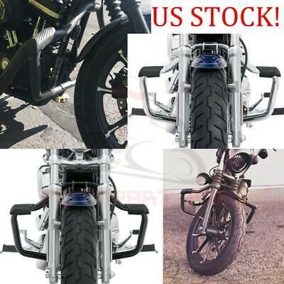 Mustache Engine Guard Highway Crash Bar For Harley Sportster 883 1200 04-16 AF3