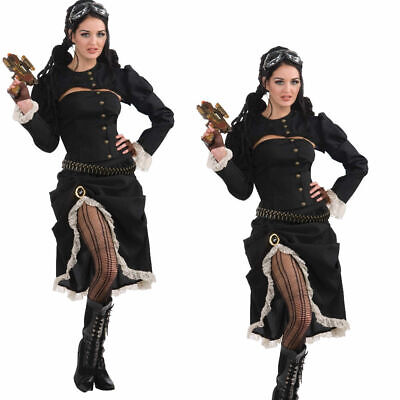 Steampunk Renegade Cosplay Victorian Fancy Dress Costume Women New