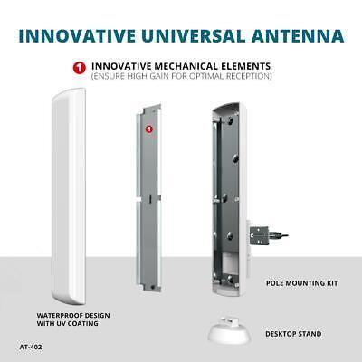 Hdtv Digital Flat-panel (Antop Flat-Panel Outdoor Indoor HDTV Antenna High Gain Digital Multi-Directional)