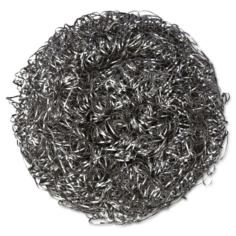 Purex Stainless Steel Scrubber Large Steel Gray 6/pack 12 Packs/ctn 756 NEW