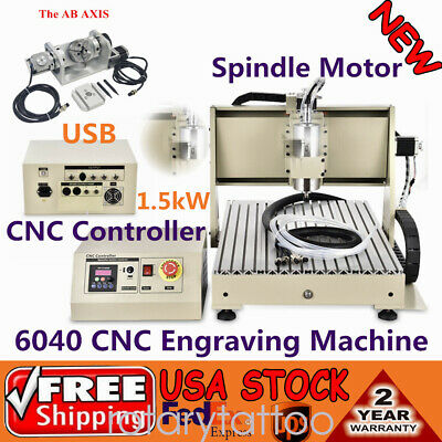 1.5kw 6040 Cnc Router Usb 5axis Engraver Engraving Woodworking Milling Machine