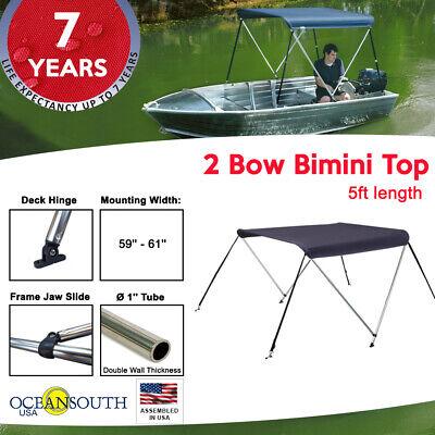 2 Bow BIMINI TOP Boat Cover Blue 51