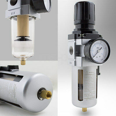 Druckluft Wasserabscheider 1/2 Druckluft Druckminderer Druckregler Filter NEU