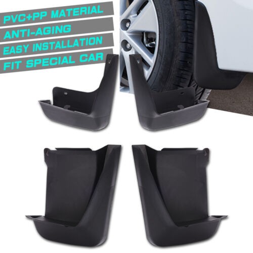 Car Parts - MICTUNING 4X Black Car Splash Guards Mud Flaps Mudguard Kit For Honda 2003-07