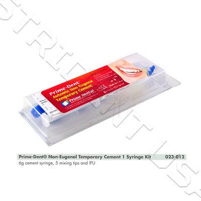 Prime Non Eugenol Temporary Cement 6 Gram Syringe Kit 023-012