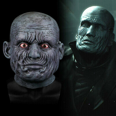 2019 Game Resident Evil 2 Remake Tyrant Cosplay Mask Latex Full Head Halloween - Halloween 2 Remake