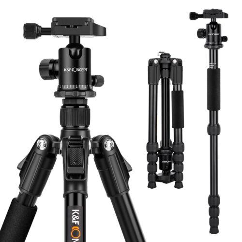 K&F Concept Reisestativ Kamerastativ Aluminium für Canon Nikon mit Kugelkopf