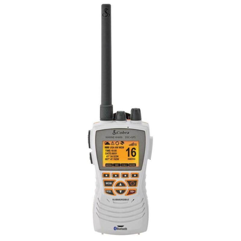 Cobra MR HH600W Floating Waterproof Handheld VHF Radio GPS Bluetooth DSC Rewind