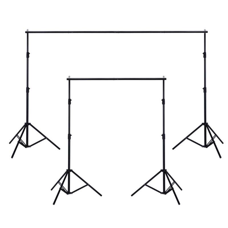 10x6.5ft Adjustable Background Support Stand Photo Studio Backdrop Crossbar Set