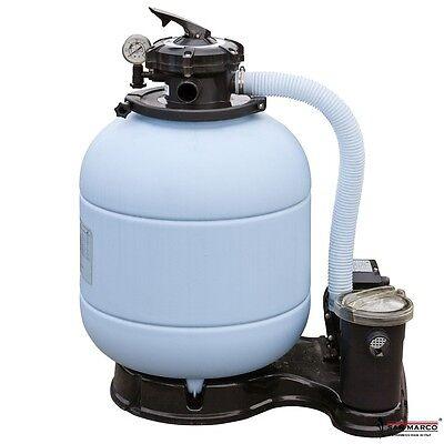 Pompa filtro a sabbia piscina Gre da 6 mc/ora con motore pre filtro e serbatoio