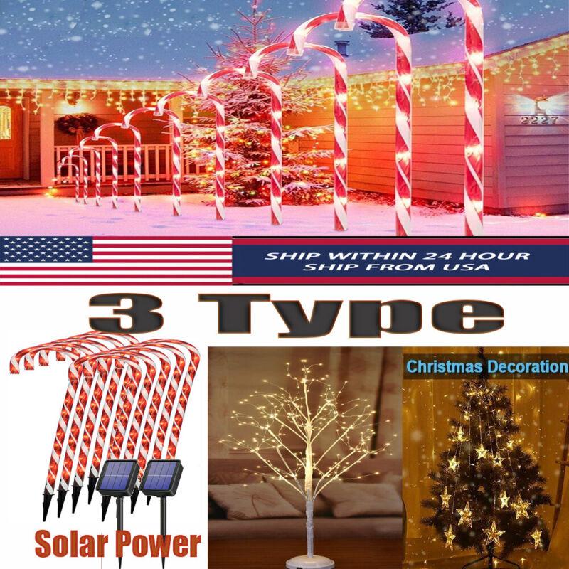 Solar Candy Cane Light /DIYTree Light / Star String Fairy Lights Christmas Decor
