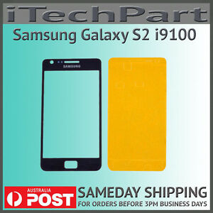 Black LCD Screen Lens Glass Replacement For Samsung Galaxy S2 i9100