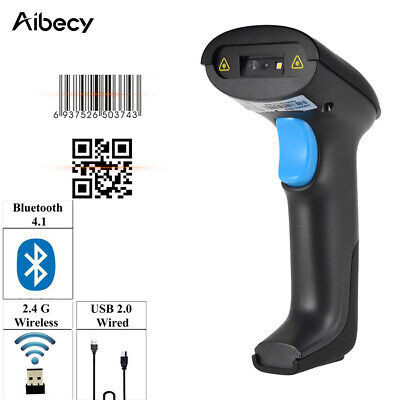 Automatic Handheld Barcode Scanner Gun Reader Bluetooth Wireless Lot P8t3