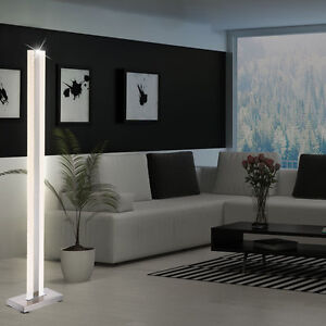 LED Steh Lampe DESIGN Decken-Fluter 28W Stand Leuchte Wohnraum ALU Licht Säule
