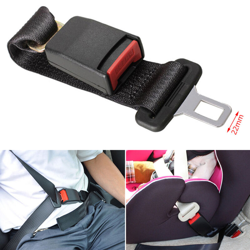 SEAT Car SAFETY Seat BELT Stopper UNIVERSAL BUCKLE Adjustable 2 Black Clips