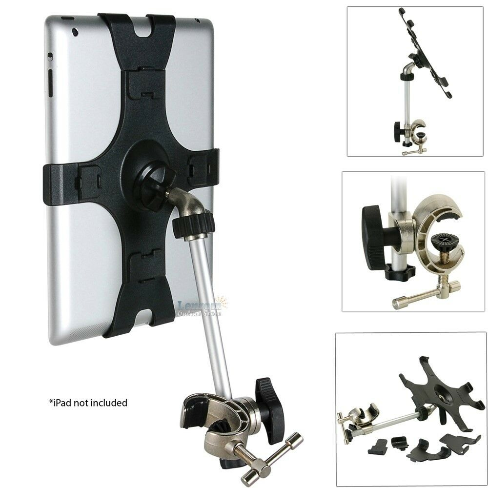Iclaw Mic Or Music Stand Holder For Apple Ipad