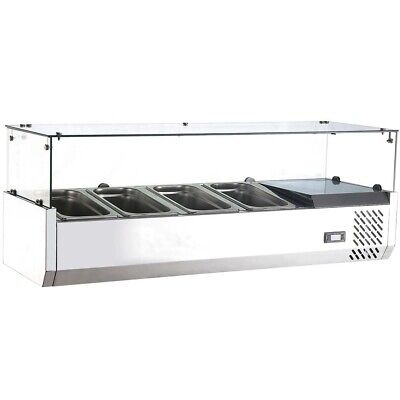 Marchia Mtr4 48 Refrigerated Countertop Salad Bar Topping Rail
