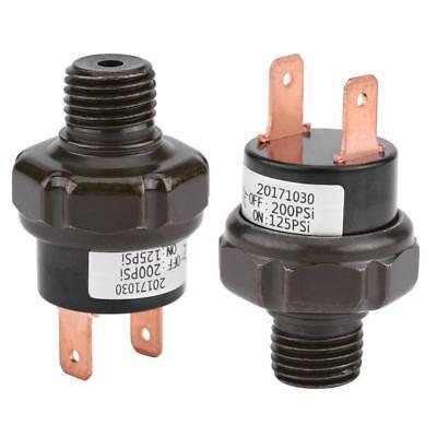 12v Air Compressor Tank Pressure Control Switch 125-200 Psi Off Valve 14 Npt
