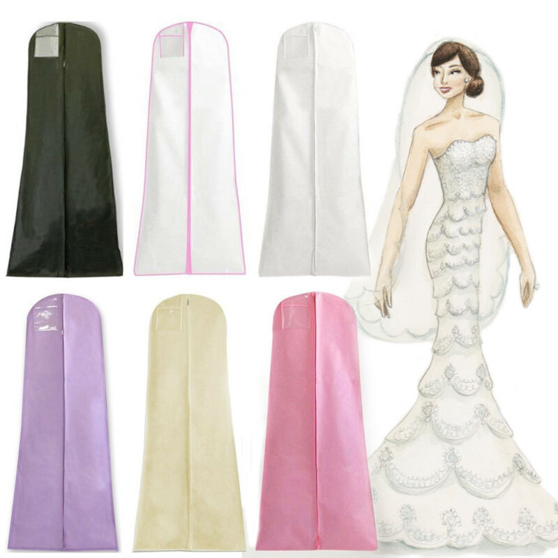 Dustproof Wedding Dress Storage Clothes Bag Cover For Bridal Gown ...