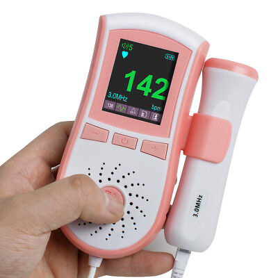 Fetal Doppler Prenatal Baby Sound Monitor System 3m Probe 2 Interface 4 Function
