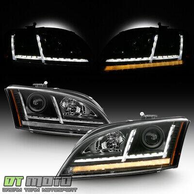 [Halogen] 2008-2014 Audi TT LED DRL Sequential Turn Signal Projector Headlights