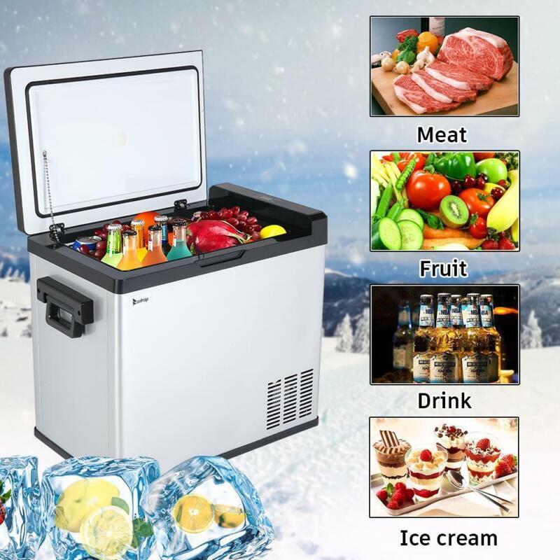 54 Qt Portable Mini Fridge Freezer Car Refrigerator Cooler Electric Commercial