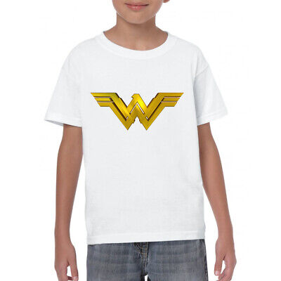 Wonder Woman Superhero Logo T-shirt Printed Kids, Birthdays, Gifts, Age 1-13yrs ()