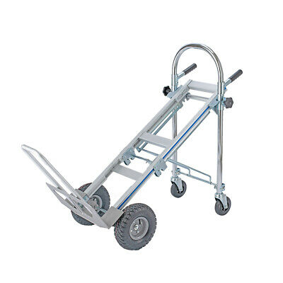 3 In 1 Aluminum Hand Truck Dolly 770lb Stair Climbing Rolling Cart Wheel Trolley