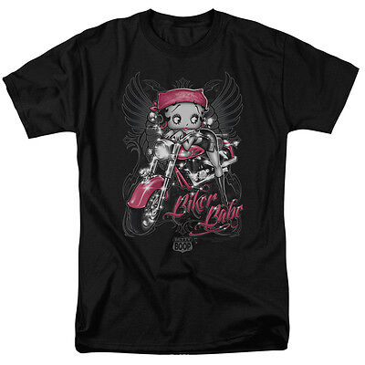 Betty Boop BIKER BABE Angel Wings Licensed Adult T-Shirt All Sizes (Adult Babe)