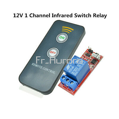 12V One 1 Channel Infrared Switch Relay Driving Module Board Remote Control