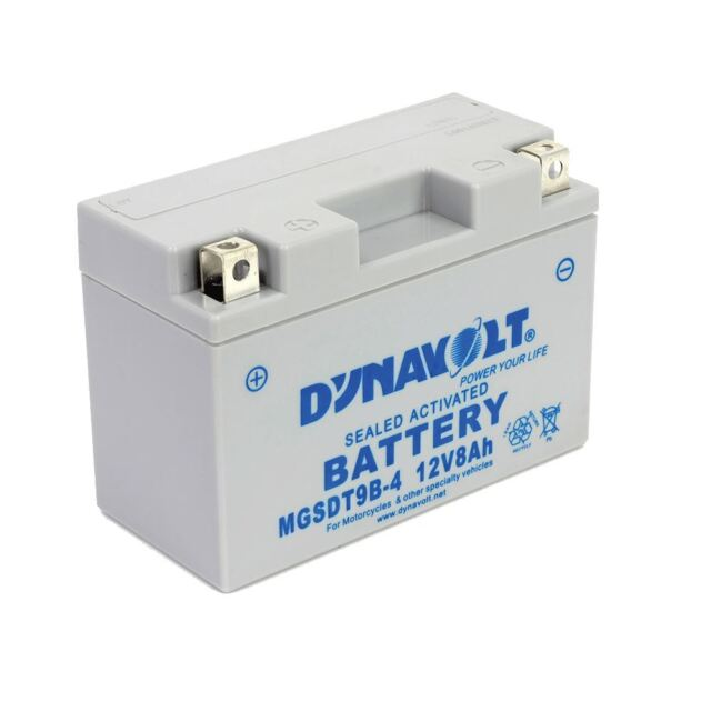 Dynavolt Motorcycle Conventional Sealed Activated Battery 12V-MGS9B4/YT9B-4