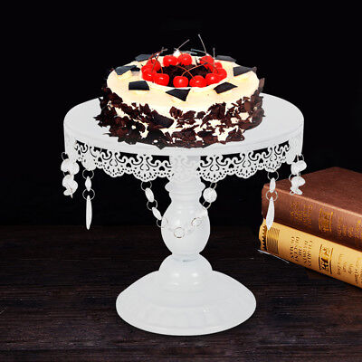 12 Inch Round Cake Plate - 12-Inch Wedding Cake Stand Round Metal Event Party Display Pedestal Plate Tower