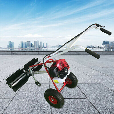 1.7hp Gas Power Handheld 2 Wheel Sweeper 2-stroke Leaves And Grit Cleaning Tools