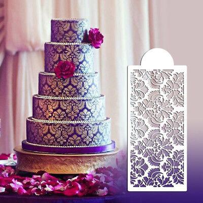 - Baking Tool Side Decor Mould Damask Lace Flower Border Fondant Cake Stencil