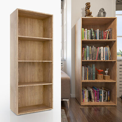 VICCO XL Bücherregal 155 x 60 cm Eiche Sonoma - Medienregal Dekoregal Büroregal (60 Bücherregal)