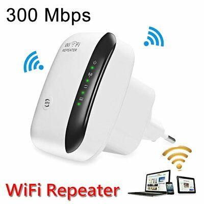 EM  WiFi Range Extender Super Booster 300Mbps Superboost Boost Speed Wireless EU