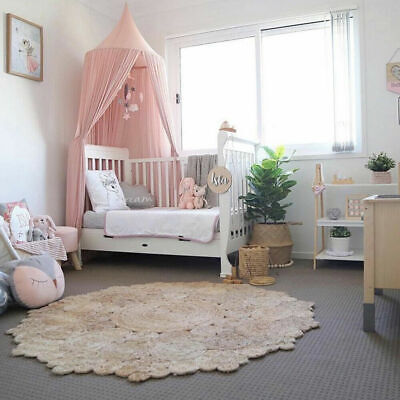 hanging bed canopy girls dome round chiffon