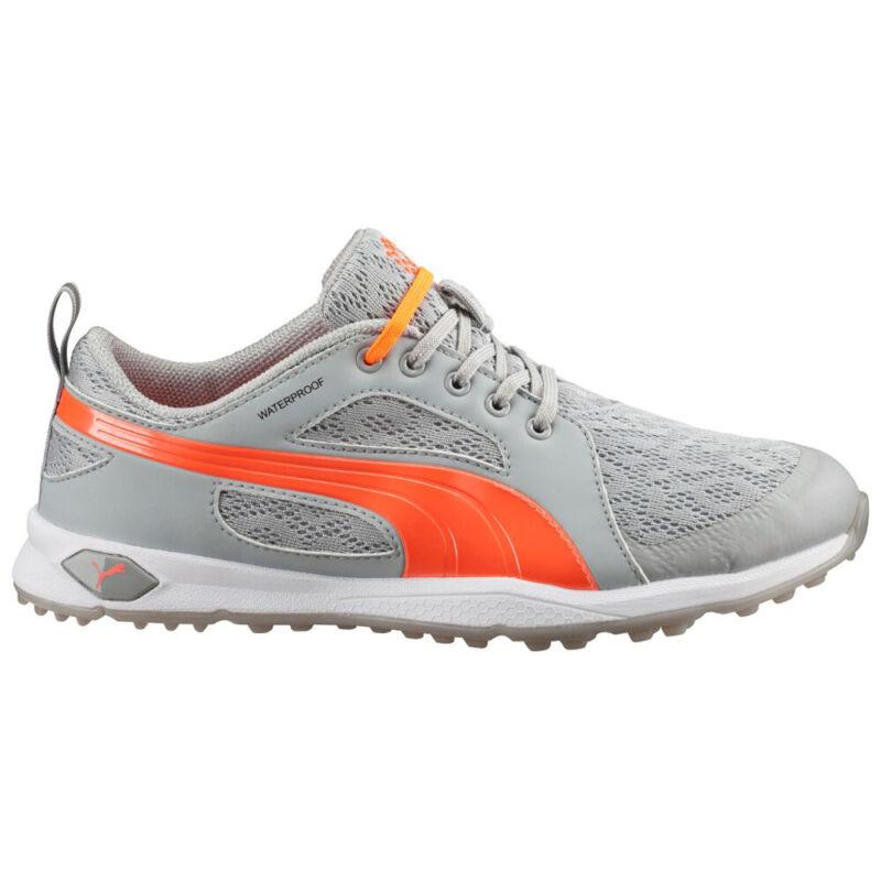 PUMA Ladies BioFly Mesh Spikeless Golf Shoes - High-Rise/Fluo Peach