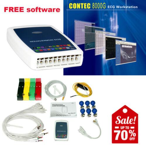CONTEC8000G PC Base ECG Workstation System 12 Lead Resting EKG Machine Recorder